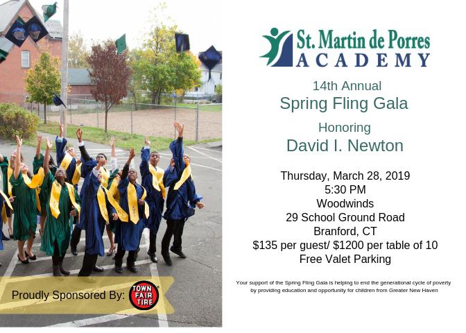 2019 Spring Fling Gala invitation