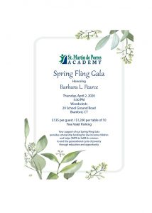 202 Spring Fling Gala Honoring Barbara L. Pearce