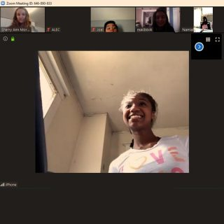 SMPA Students on zoom during covid 19